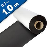 Feuille magnétique Caoutchouc aimanté BLANC MAT 0,7mm x 0,62m x 1m - au mètre