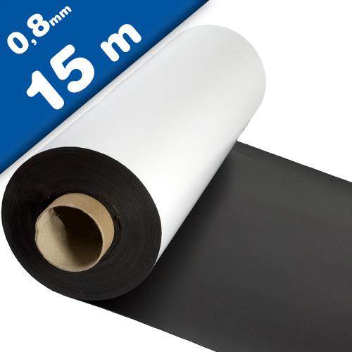 Matte White Vinyl Magnet Sheet 0,8mm x 0,62m x 15m