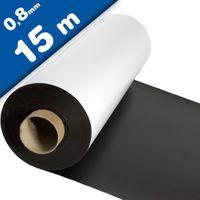 Magnetfolie weiß matt beschichtet 0,8mm x  62cm x 15m – Rolle / Meterware