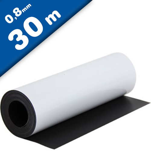 Lamina magnetica blanco brilliant 0,8mm x 0,62m x 30m