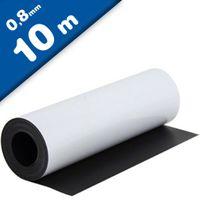 Feuille magnétique Caoutchouc aimanté BLANC MAT 0,8mm x 1m x 10m - Rouleau