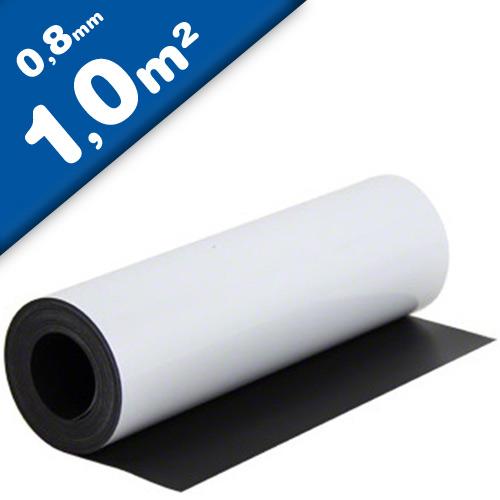 Feuille magnétique Caoutchouc aimanté BLANC MAT - 0,8mm x 1m x 1m - au mètre
