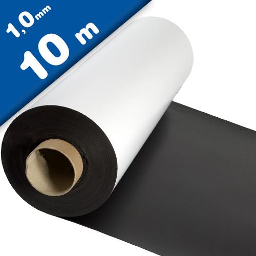 Matte White Vinyl Magnet Sheet 1mm x 1m x 10m - Flexible magnets