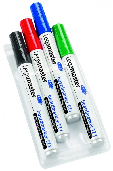 Whiteboard Marker Wallet of 4 assorted colors - black, red, blue, green