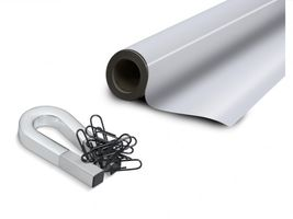 White gloss ferrous sheet with self adhesive 0,6mm x  50cm x  50cm