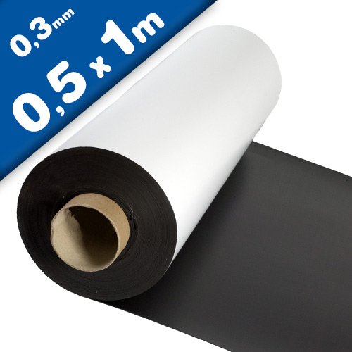Matte White Vinyl Magnet Sheet 0,3mm x  50cm x 100cm
