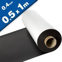 Feuille magnétique Caoutchouc aimanté BLANC MAT 0,4mm x 50cm x 100cm