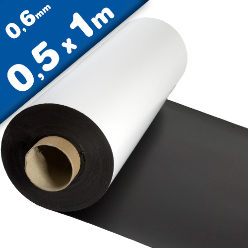 Matte White Vinyl Magnet Sheet 0,6mm x 50cm x 100cm - Flexible magnets