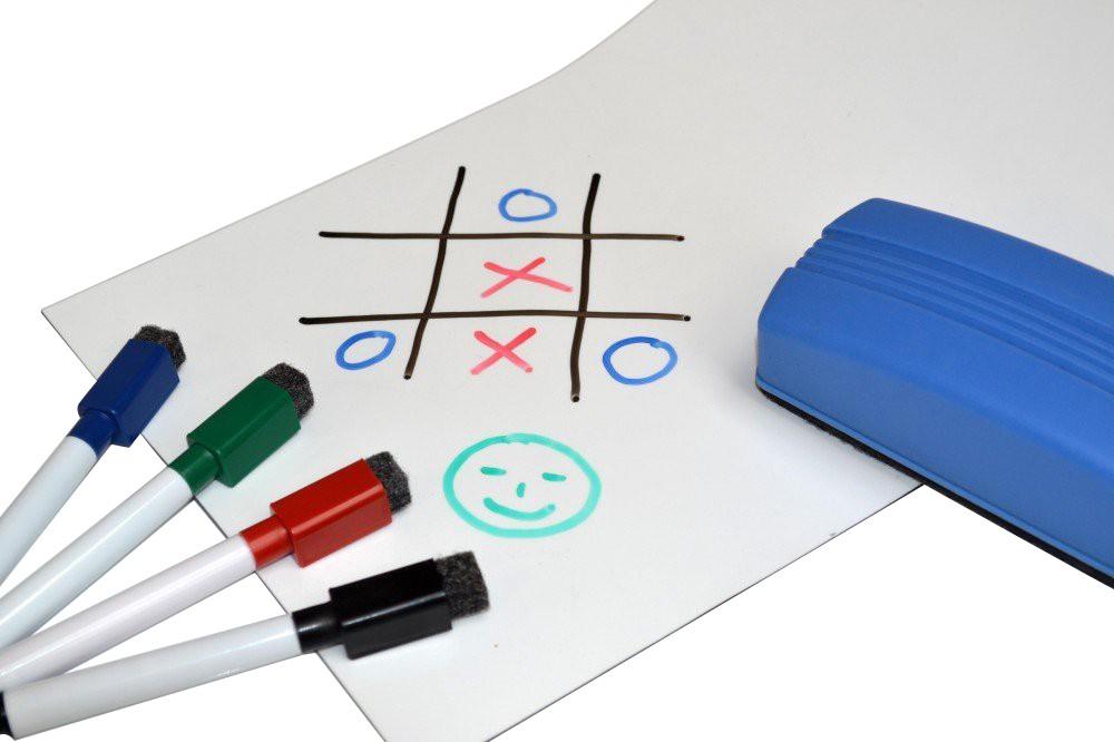 Lamina magnetica blanco brilliant escribir y borrar 0,6mm x 31cm x  31cm