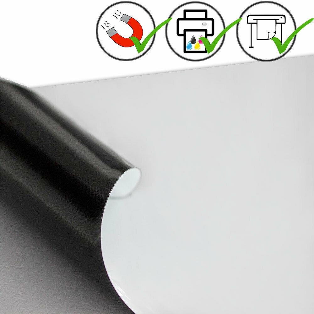 Magnetfolie weiß matt beschichtet 0,7mm x  50cm x  62cm - magnetische Folie