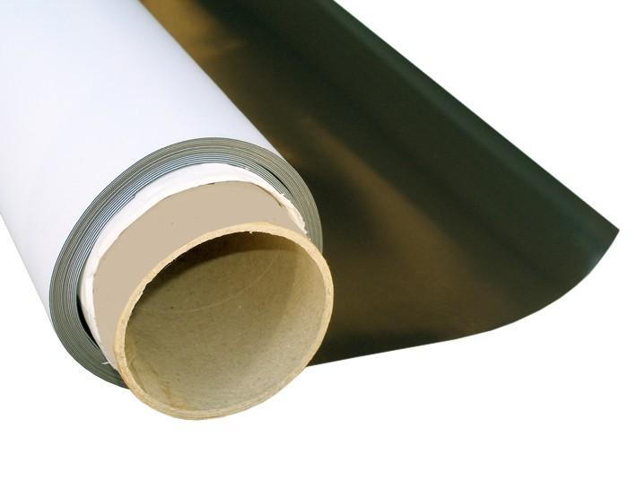 Feuille magnétique Caoutchouc aimanté BLANC MAT 0,8mm x 50cm x  50cm