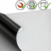 Feuille magnétique Caoutchouc aimanté BLANC MAT 0,9mm x 20cm x  20cm