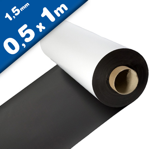 Matte White Vinyl Magnet Sheet 1,5mm x 50cm x 100cm