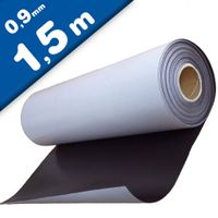 Plain magnetic sheet with self adhesive 0,9mm x 0,62m x 1,5m