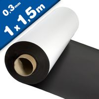 Matte White Vinyl Magnet Sheet 0,3mm x 1m x 1,5m