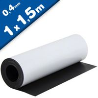 Magnetfolie weiß matt beschichtet 0,4mm x 100cm x 150cm - magnetische Folie