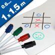 Magnetfolie / Whiteboardfolie magnetisch weiß beschreibbar 0,6mm x 1m x 1,5m 001