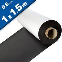 Magnetfolie weiß matt beschichtet 0,8mm x 100cm x 150cm - magnetische Folie
