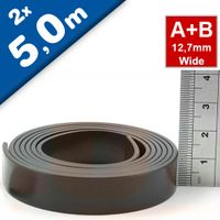 Self Adhesive Magnetic Tape Magnet Strip A & B 1.5mm x 12,7mm x  5m
