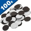 Self Adhesive Magnetic Dots 1,2mm x Ø 27mm, 100 pieces, pull 92 g/cm² 001
