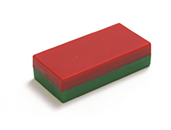 Strong Ferrite Block Rectangular Magnet red/green, Ferrite Rectangular Magnets, Ferrite magnets