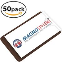 50 x Magnetic Card Label Holder with side opening - Size: 10cm x 6cm - 50 pieces