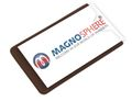 5 x Magnetic Card Label Holder with side opening - Size: 8,6cm x 8,6cm - 5 pcs 001