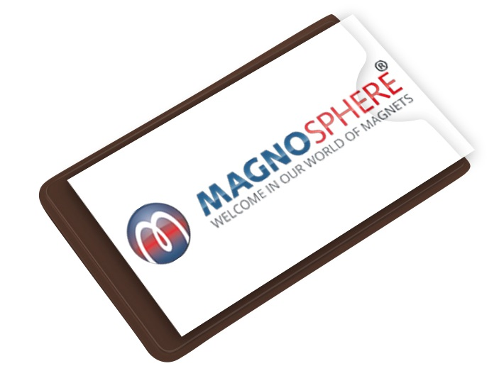 Clear plastic magnetic label holders