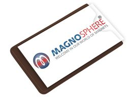 25 x Magnetic Card Label Holder with side opening - Size: 8,6cm x 8,6cm - 25 pcs