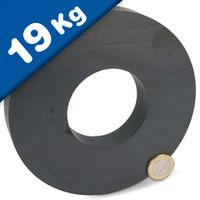 Ring Magnet Ø 140 x 63 x 17 mm Ceramic Ferrite Y30 - holds 19kg - Magnetic Rings