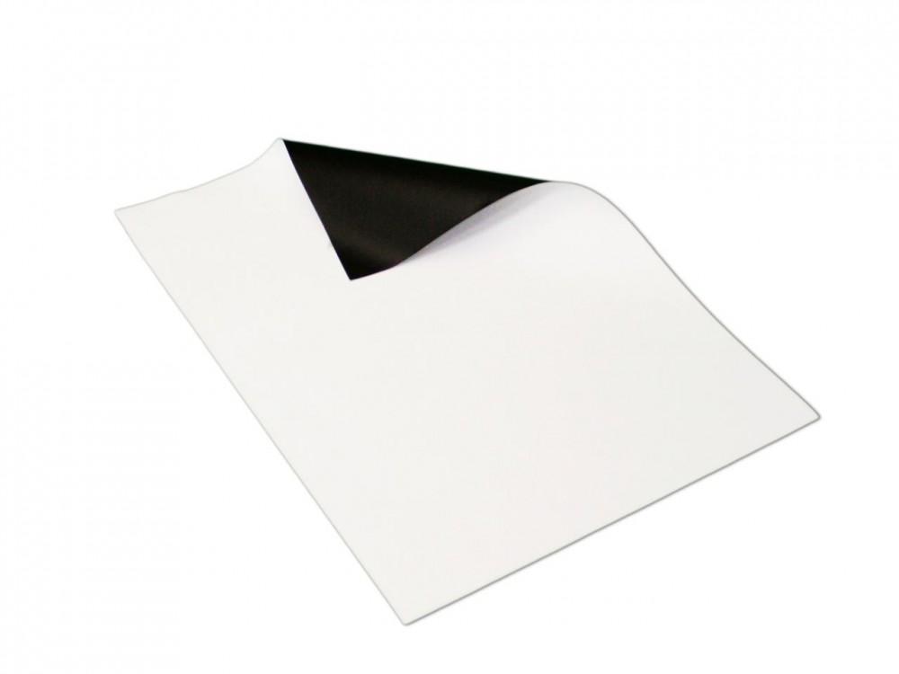 anisotrop 1 St/ück Magnetfolie wei/ß matt beschichtet 2mm x 50cm x 50cm