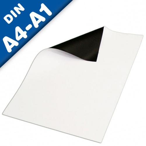 Magnetfolie DIN A Formate (A1, A2, A3, A4) anisotrop weiß matt - Stärke: 0,4 mm
