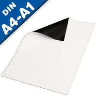 Magnetic Sheets matt white - DIN A Formats (A1, A2, A3, A4) - strength 0,4 mm