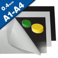 Fogli metallici neutro con adesivo formato A1-A4, 0,4mm