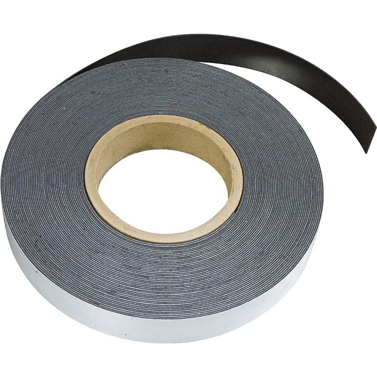 Plain ferrous strip with self adhesive 0,6mm x 25mm x  3m