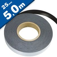 Plain ferrous strip with self adhesive 0,6mm x 25mm x  5m