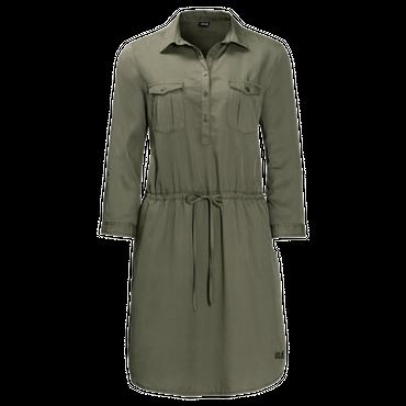 Jack Wolfskin 1504851 Damen Kleid MOJAVE DRESS olive-grün – Bild 5