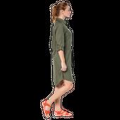 Jack Wolfskin 1504851 Damen Kleid MOJAVE DRESS olive-grün – Bild 4
