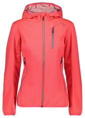 CMP 38A5526 Damen Softshell-Jacke WOMAN FIX HOOD JACKET red-fluo