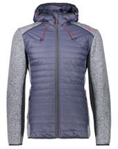 CMP 38H1477 Herren Hybrid Fleece Jacke FIX HOOD HYBRID Asphalt