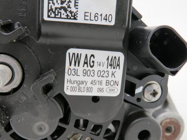 03L903023K Original Lichtmaschine Generator Bosch 2,0 TDi 140A VW Scirocco 13 – Bild 3