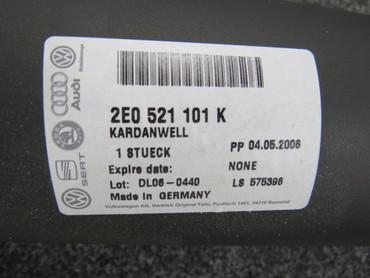 Neu Original VW Kardanwelle 2E0521101K VW Crafter 2E 2,5 Tdi 88 109 136PS BJL – Bild 5