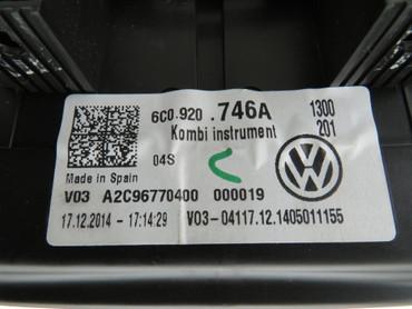 6C0920746A Original Tacho Kombiinstrument Chrom 280km/h Benzin VW Polo 6C GTI – Bild 8