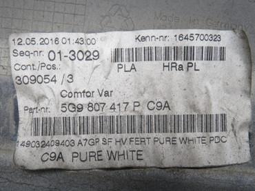 5G9807417P Original Stoßstange hinten PDC PLA AHK VW Golf 7 VII Variant Facelift – Bild 11