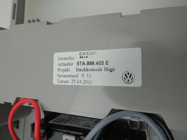 5TA868403E Ablagfeach Innenhimmel Klappfach oben grau VW Tiguan II AD1 5NA – Bild 7