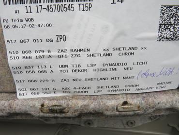 510867211AH Original Türverkleidungen Set Leder schwarz beige VW Golf Sportsvan – Bild 12
