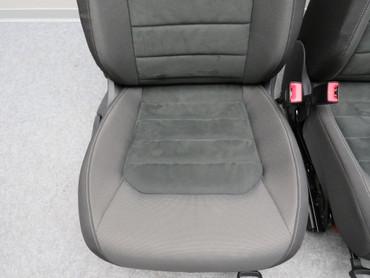 Fahrersitz Beifahrersitz Alcantara Stoff Sitzheizung anthrazit VW Golf Sportsvan – Bild 3