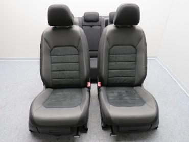 Fahrersitz Beifahrersitz Alcantara Stoff Sitzheizung anthrazit VW Golf Sportsvan – Bild 2