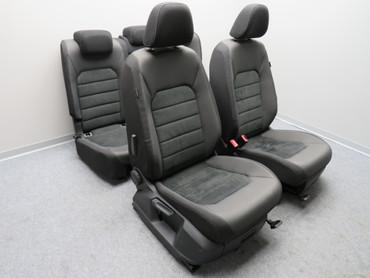 Fahrersitz Beifahrersitz Alcantara Stoff Sitzheizung anthrazit VW Golf Sportsvan – Bild 1