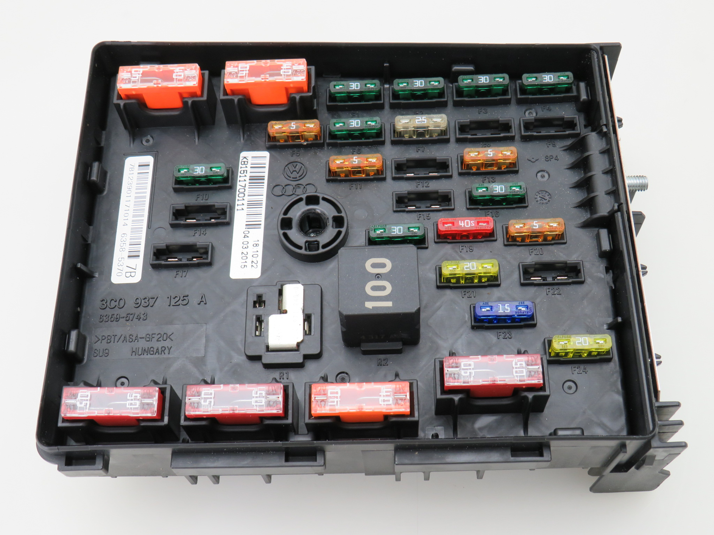 Details about Fuse Box Engine Compartment 3C0937125A VW Sharan 7n Pat on fuse box diagram, fuse switch box, under the hood fuse box, fuse fuse box, 1988 honda prelude under hood fuse box,